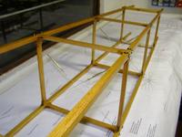 Name: bleriot 121.jpg Views: 413 Size: 68.9 KB Description: Some of the bracing wires added.
