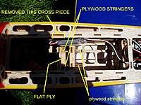 Name: P1010180B.jpg Views: 278 Size: 98.5 KB Description: The Plywood stringers running aft go almost to the bulk head.
