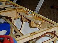 """Name: P1010439.jpg Views: 231 Size: 72.2 KB Description: I put 1/16"""" balsa against the inside of the fuse and in essence built a shelf tied into that."""