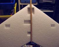 Name: Swift dihedral.jpg Views: 188 Size: 36.5 KB Description: The bottom side now has a big slice of balsa bisecting the battery compartment, but a few minutes with a Dremel and some tools will cure that.