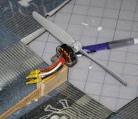 Name: Swift dihedral5.jpg Views: 197 Size: 29.7 KB Description: Motor mount. Balsa trailing strips are sanded to meet in the middle.