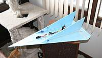 Name: Son of Blue Star2.jpg Views: 227 Size: 63.6 KB Description: Lined up the vert stab trailing edge with the elevon trailing edge in case I want to try some VTO. As if. Heh.