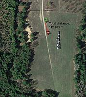 Name: back_field.jpg Views: 76 Size: 97.6 KB Description: My flying site in the back field. Note the fence line on the north. Slope from south to north of about 10 degrees.
