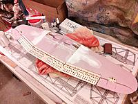 """Name: build-07.jpg Views: 347 Size: 257.4 KB Description: Ailerons fitted for """"secret horns.""""  Will be using a pair of hinge points for the ailerons as well."""
