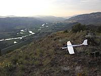 Name: pickens slope view n m.jpg Views: 19 Size: 587.2 KB Description: The view north up the Okanogan River valley, distant peaks are in Canada. Osoyoos lake may be visible.