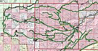 Name: ahtanum forest map.jpg Views: 12 Size: 556.4 KB Description: State forest map. Darland Mtn at far left. We drive up on state forest land and cross into NF land on the summit spur to camp.