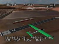 Name: fpv1.jpg Views: 1851 Size: 18.5 KB Description: Typical FPV aircraft and OSD over a flying site created from a satellite image.