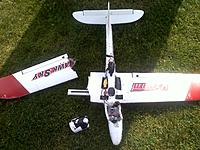 Name: 20120531090837.jpg Views: 138 Size: 294.6 KB Description: Upgraded motor on hawsky. Result of being too agressive in a spiraling dive and hitting 2D switch during recovery test. Easily repairable