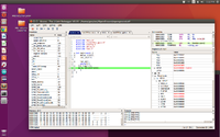 Name: Screenshot from 2016-11-12 17-22-18.png Views: 24 Size: 356.2 KB Description: Ozone single stepping through code on Ubuntu 16.04 laptop.  Note view of peripheral registers to the right, that tells us what is going on at the CPU level as part of debug.