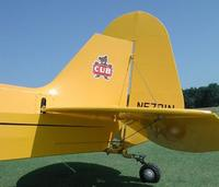 Name: Cub tai l02.jpg Views: 214 Size: 37.9 KB Description: J-3 Tailfeathers.  Note the flat shape at the rear of the rudder.