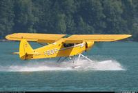 Name: Super Cub with metal flaps and ailerons.jpg Views: 731 Size: 75.7 KB Description: Late Super Cub with metal flaps and ailerons.  Also note larger skylight and shape of rudder and blalaner on elevator.