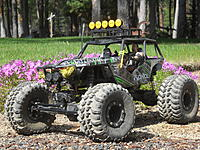 Name: DSCN0494.jpg Views: 109 Size: 316.6 KB Description: ...my Wraith is set up for tough trailing, and makes it look easy with lower gearing with 3cell lipo power