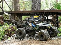Name: crawler1.jpg Views: 112 Size: 76.7 KB Description: ...the guys went for a trail ride, following the train tracks down to a canyon and an old trestle...