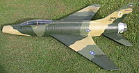 Name: F100 Super Sabre 1.jpg Views: 145 Size: 310.9 KB Description: Hobby Top Gun F100 Super Sabre 90mm Wemo, Alloy housing with HET 700-68-2100KV Typhoon. Set up for 6cell. Tested on an Extreme 3200 Race 45c/70c Watts 2418.2Wp, Amps peak 110.12Ap