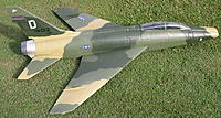 Name: F100 Super Sabre 2.jpg Views: 97 Size: 315.4 KB Description: This airframe has been covered using 3/4 once and 3 coates cabothane clear satin, as discribed in building instructions on Extreme RC's web page. With a little research I came up with this colour scheme from the Vietnam war