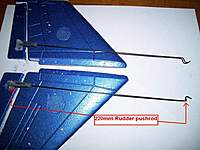 Name: rudder pushrod.jpg Views: 439 Size: 103.5 KB Description: rudder pushrods made from hobbyzone Supercub ele/rud pushrods.  220mm long from clevis hole to Z bend. chop off excess.
