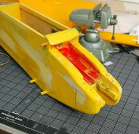 Name: fuselage_nose.jpg Views: 295 Size: 188.7 KB Description: Sanding the sides to a smoother finish.