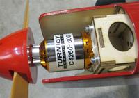 Name: turnigy_motor.jpg Views: 650 Size: 94.6 KB Description: Turnigy 4260-600 mounted to the GP Escapade.