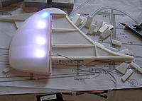 Name: glowdog_13.jpg Views: 94 Size: 263.1 KB Description: Fin completed with LEDs installed.  Added a blue LED on the top intentionally.