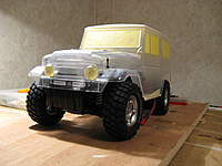 Name: LC 40-007.jpg Views: 307 Size: 57.2 KB Description: The first body-on mock-up. It will be painted flat desert tan inside and out for a less-glossy look.