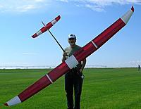 Name: E_Yardbird.jpg Views: 223 Size: 183.2 KB Description: E-Yardbird w/ Hi-Aspect fuse and Hobbyking 3548 Outrunner motor