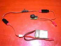 "Name: picDSCF0026.jpg Views: 305 Size: 78.0 KB Description: The whole ""setup"",  small lipo, PLD-BAC-001 and now the PLD electronic jack"