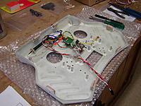 Name: P1010007.jpg Views: 182 Size: 280.3 KB Description: DJT module + ariel , Switch, FrSky Bind button and LED panel, Speaker installed.
