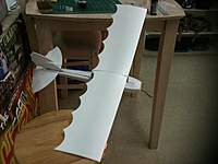 """Name: HENRY MIGNET 035.jpg Views: 347 Size: 30.9 KB Description: Wing testing 30"""" inch is too long so I will cut one curve each wing."""
