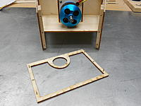 Name: DSCN2993.jpg Views: 52 Size: 173.7 KB Description: Hole locations are transferred to the balsa supports and toothpicks/magnets are glued into the grille. Small screws attract the magnets enough to keep it from falling off
