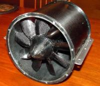 """Name: 2006-02-14 002red.jpg Views: 259 Size: 35.8 KB Description: WM2000-140/FF full carbon """"front fan"""" with Lehner 2250 motor. It produces 5kg of thrust with only 2300W input power according to measurements of the customer."""