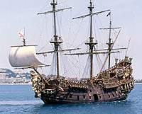 """Name: neptune.jpg Views: 1238 Size: 29.9 KB Description: That´s the NEPTUNE from Roman Polanskis movie PIRATES - and thats also the overall appearance I want to achive for my """"Jolly Roger"""" -allthough it would only have about half of its tonnage."""