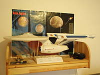 Name: P3210003.jpg Views: 135 Size: 62.3 KB Description: And that´s on the other side of my livingroom - the big 1/350 Enterprise NCC-1701 A from ´Polar Lights`. 88cm long - details from my girlfriend as well.