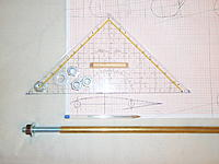 Name: P9050002.jpg Views: 94 Size: 217.2 KB Description: 2 x 12 mm steel rods - 50cm long overall + nuts to secure them inside the hull + 14mm brass tube, 1mm wall. the steel rods will be 10.5 cm apart - each 5.25 cm for and aft of the center of the profile. - Same relation to the center of the bulb itself.