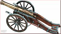 """Name: Kanone Louis XIV.jpg Views: 123 Size: 40.1 KB Description: Again my """"Louis XIV."""" cannon - a picture from an advertisement. The same cannon has been reproduced in different sizes - up to 45 cm long."""