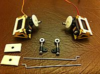 Name: 20120821 042.jpg Views: 96 Size: 297.1 KB Description: Elevator hardware. Note, I've changed my mind and the z-bends are going on the servo side.