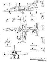 Name: L-39 3.jpg Views: 62 Size: 89.7 KB Description: Good three-view with cross sections.