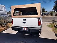 Name: IMG_20200617_154722705_HDR.jpg Views: 8 Size: 3.80 MB Description: The lift gate is cut over size and I just hung it with one screw.  Got to shift focus and get the window frame made