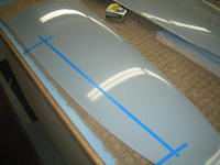 Name: IMG_0017.jpg Views: 127 Size: 59.3 KB Description: After trimmed and sanded to shape I lay down some lines for ailerons to be cut