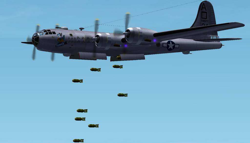 Attachment browser: B-29 Bomb Drop.jpg by WhiskeyJake
