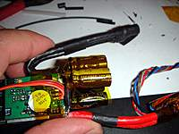 Name: 1.jpg Views: 188 Size: 49.5 KB Description: Finished product! Note the negative wires on the controller have been flipped around to make a lot of room for the extra capacitors.