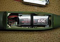 Name: Redimensionnement de DSCN4433.jpg Views: 247 Size: 139.5 KB Description: 5 LiPo set-up for test flight.