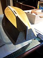 Name: 20121220_182515 (Medium).jpg Views: 42 Size: 116.9 KB Description: Skeg fitted and glued. Keel slot cut out and filed smooth