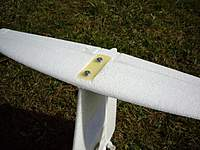 Name: Imgp8094.jpg Views: 840 Size: 77.4 KB Description: I made the elevator removable, attaching it with screws and a piece of GRP to tubes glued into the rudder.