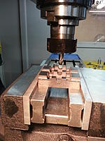 Name: 20130108_080549.jpg Views: 214 Size: 136.5 KB Description: Line up the Sole plate on the mill....