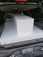 """Name: 20190201_134825.jpg Views: 33 Size: 4.08 MB Description: Lots of foam! That square block is 16"""" x 16"""" and the sheets are 4'x8'x 3""""."""