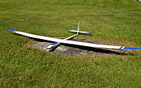 Name: Alex on rock trimmed.jpg Views: 1779 Size: 135.9 KB Description: Alex xxl  2 piece wing is relatively flat through center, polyhedral outer wing