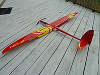 Name: P1010160.jpg Views: 270 Size: 260.6 KB Description: Full flaps, Crow testing on front deck.  Easy to mix both on left stick with Futaba 8FG