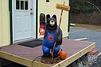 Name: Bernie the bear 006.jpg Views: 459 Size: 81.5 KB Description: Bernie our Adirondack Chainsaw carved bear standing guard.