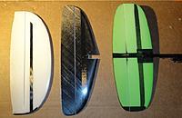 Name: Tails.jpg Views: 229 Size: 102.6 KB Description: Verticals, from left: Vortex 1, Tweagle TD, Flitzebogen prototype tail.