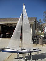 Name: boats 089.jpg Views: 204 Size: 113.4 KB Description: Sail # 38  Blue hull Drum winch & rudder replacement installed. Blue hull is replacement hull , original boat got hit by a sailboat. Boat needs rigging completed on new hull. $ 600.00 will meet within 100 miles. Call Dan for more infor @ 951-201-9579